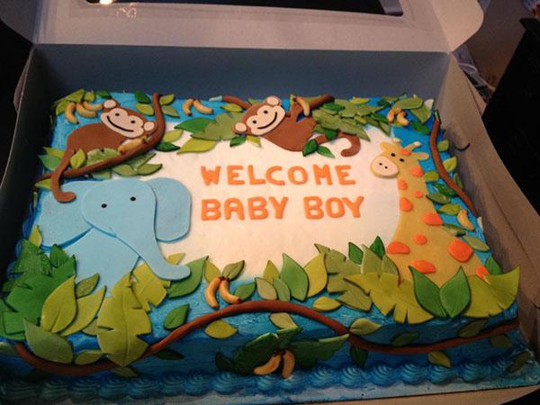 Safari baby shower cake!