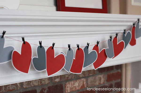 sweet heart garland for valentine's day!