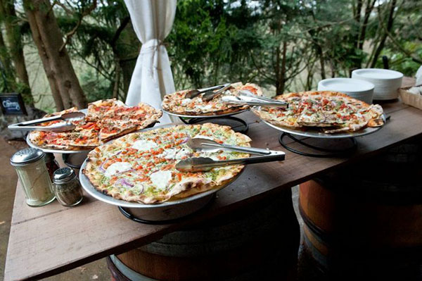 Awesome Pizza Display for a wedding!