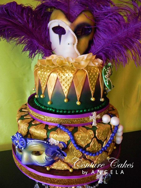 Fabulous Mardi Gras Cake