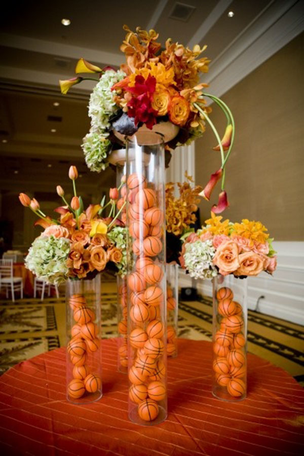 Love these basketball centerpieces!