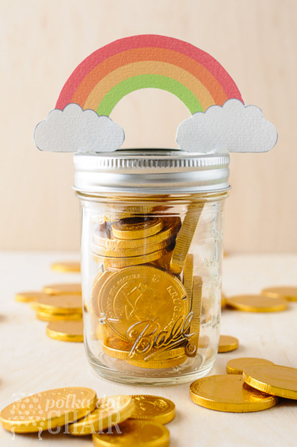 Pots of gold mason jars