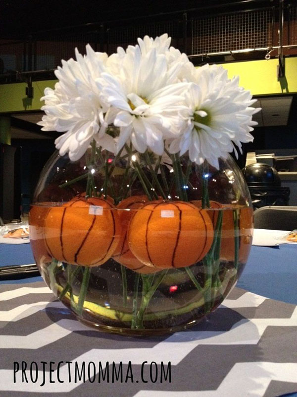 I love this basketball centerpiece