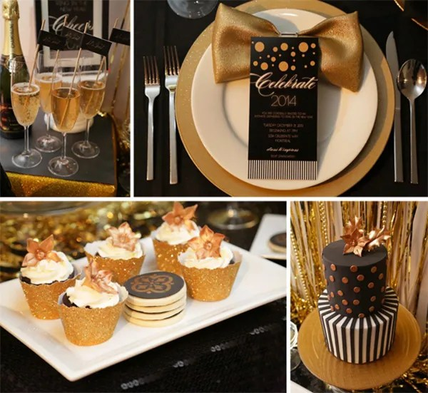 Black and Gold party ideas