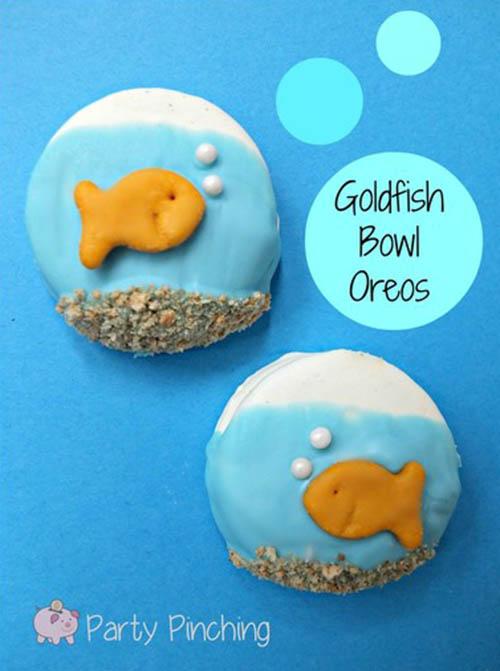 DIY Goldfish Party Oreos