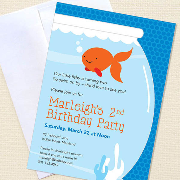 Goldfish Party invitations- cute!
