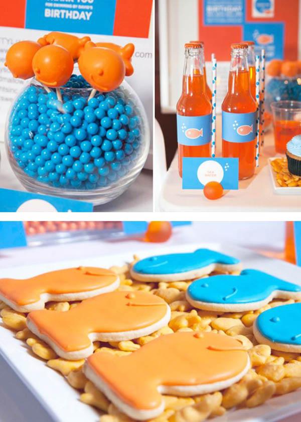 Goldfish party dessert ideas