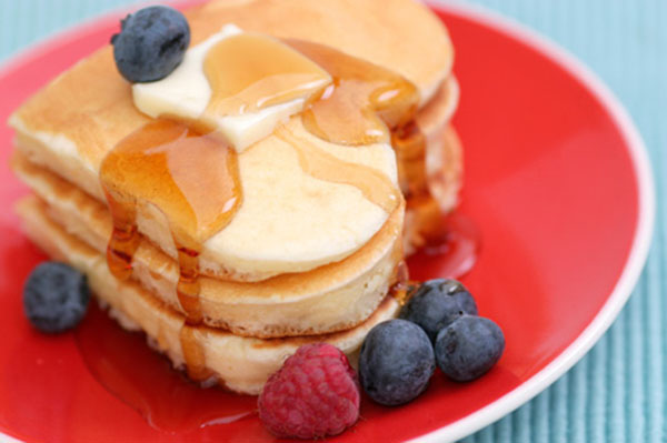 Heart Shaped Pancakes! Love these for a Mother's Day Brunch