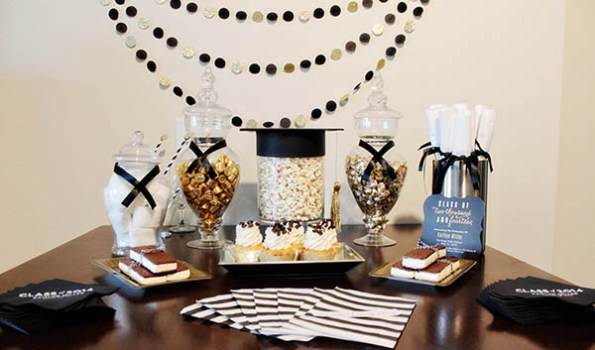 Darling Black And Gold Grad Party! - B. Lovely Events