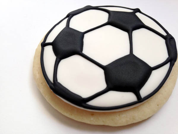 Etsy Find- Soccer ball cookies