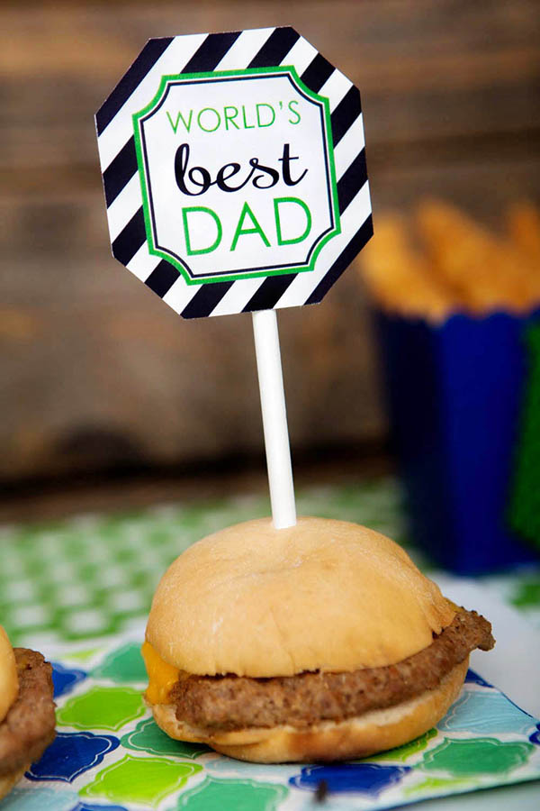 Father's Day Burgers- B. Lovely Events
