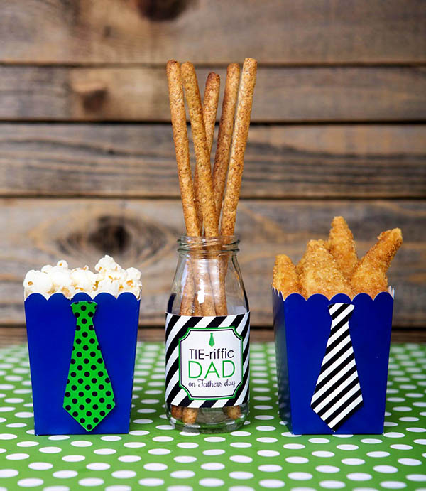Father's Day Tie Foods- B. Lovely Events