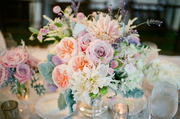 Gorgeous Pastel Centerpiece For A Wedding