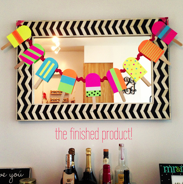 Love this Popsicle garland!