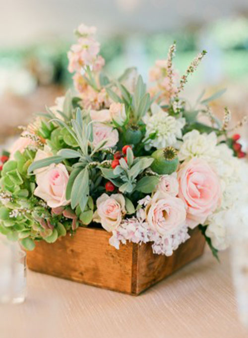 Pretty pastel centerpiece