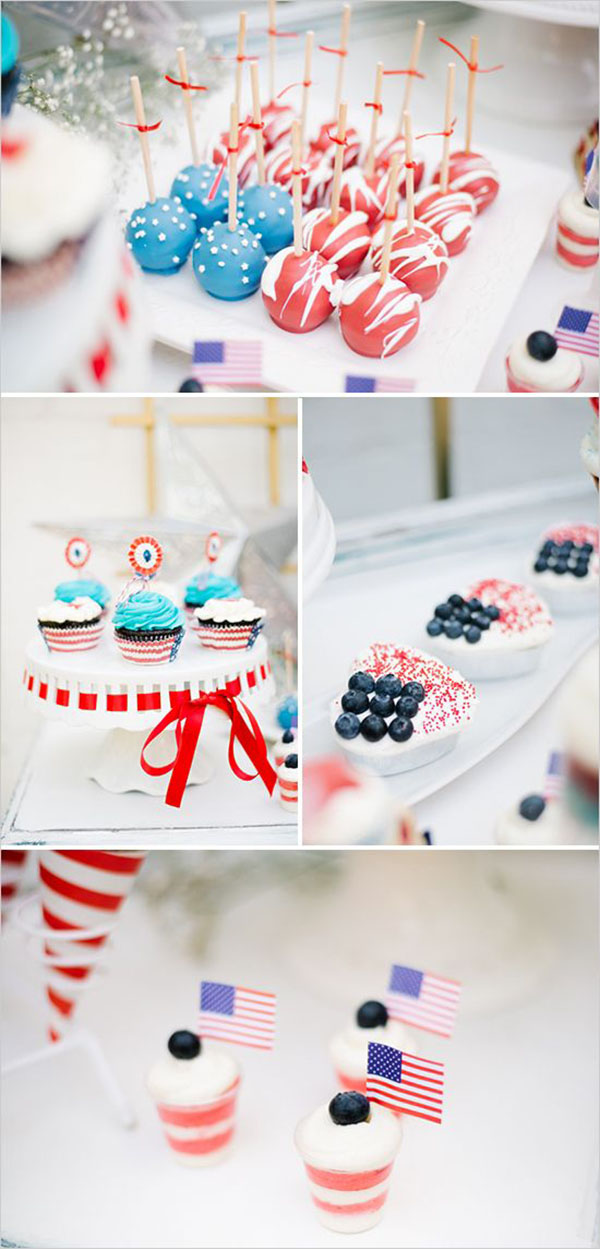 Red white and blue desserts-love these!