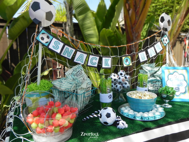 Soccer Party Snack Bar- Nice!