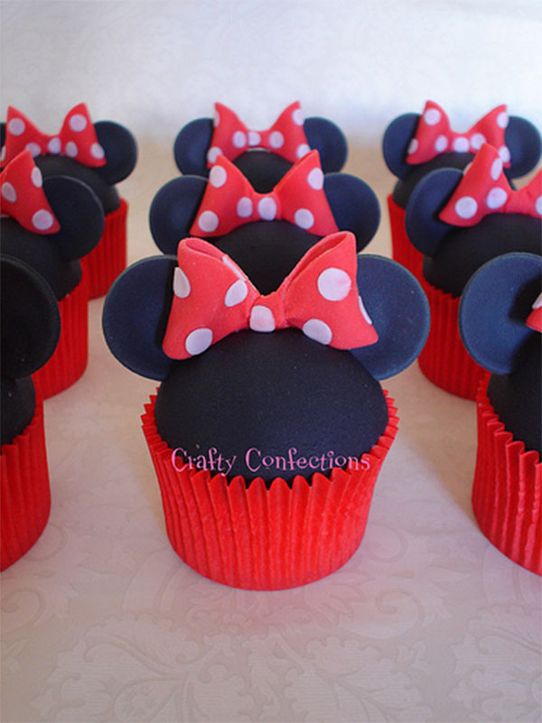 Minnie Mouse Dress Cupcake Cake