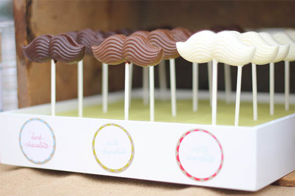 Chocolate mustache favors for a a mustache party!