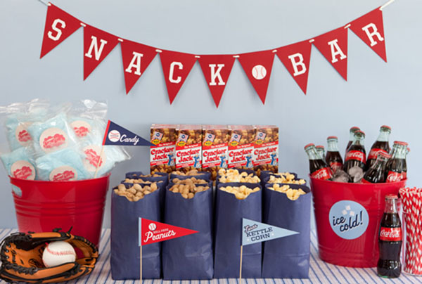 Cute Baseball party concession stand!