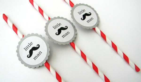 Little man mustache straws!