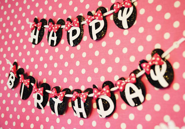 Minnie Mouse Happy Birthday banner- The Cutest!
