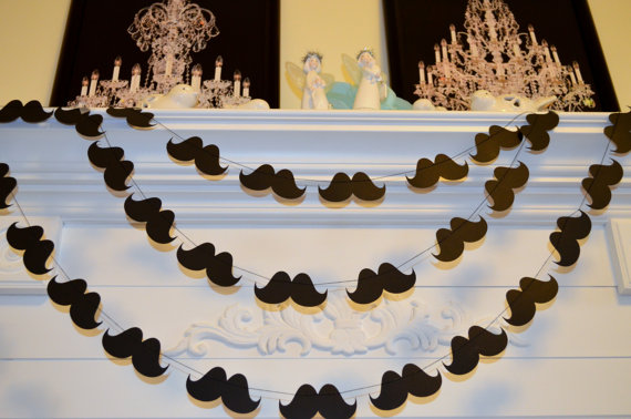 Super cute mustache garland