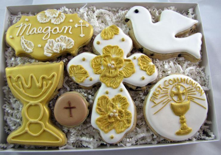 Beautiful communion cookies!