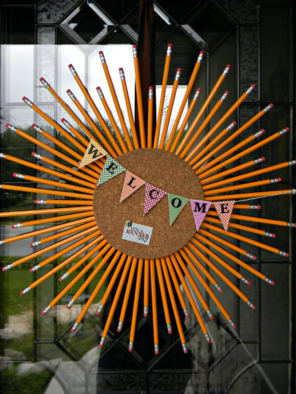 DIY Pencil Wreath For Back To School