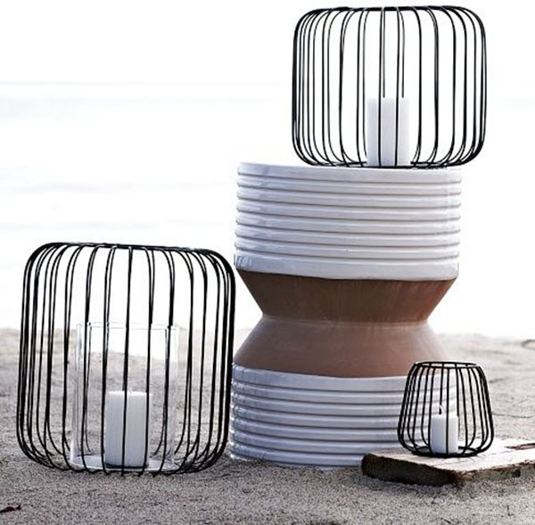 Modern Wire Lanterns are perfect for an outdoor party
