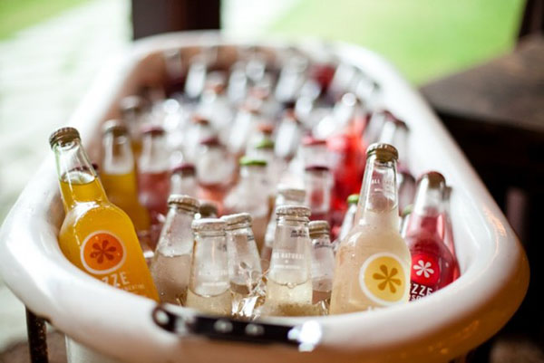 Serve you drinks out of a tub for an outdoor party!