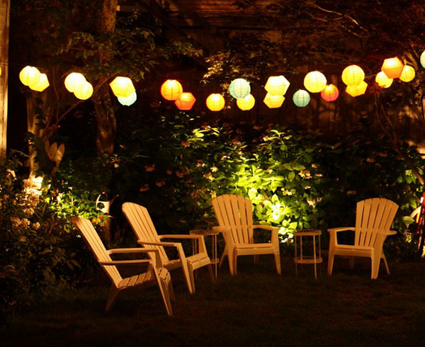 String Outdoor Lanterns- Love this look!