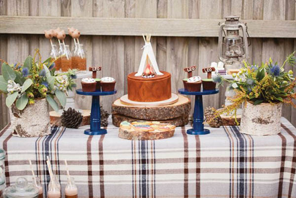 Cute Camping Party With Lovely Details!
