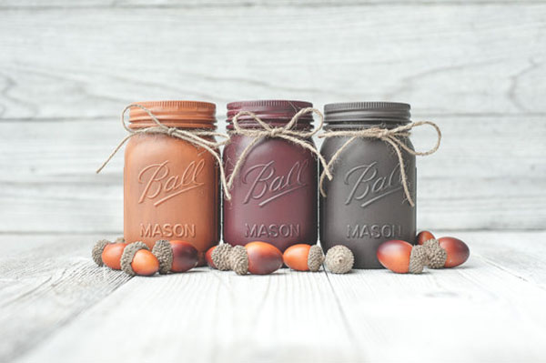 Cute Fall Mason Jars