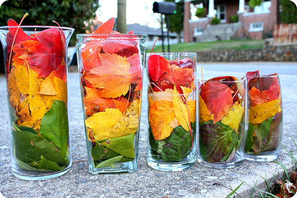 Fun Fall Leaf Centerpiece Idea
