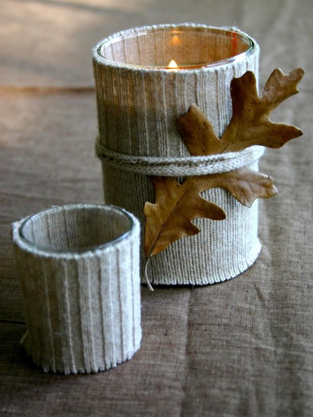 In Love With these Sweater Candles