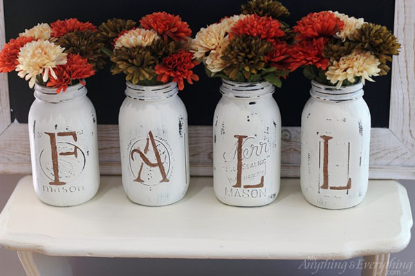 Love these Fall Mason Jars
