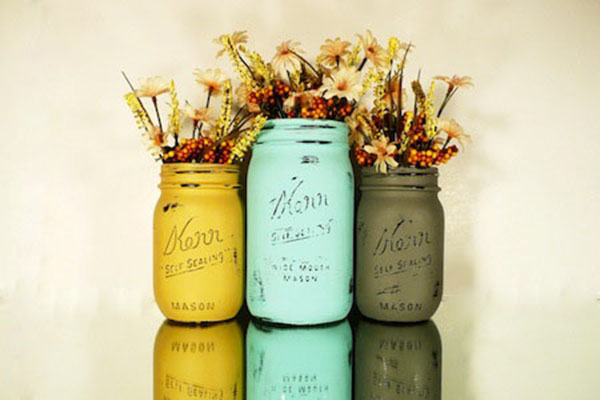 Pretty Mason jars for fall