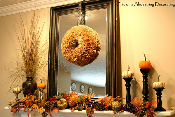 This Mantel looks stellar with these Pumpkin Decorations