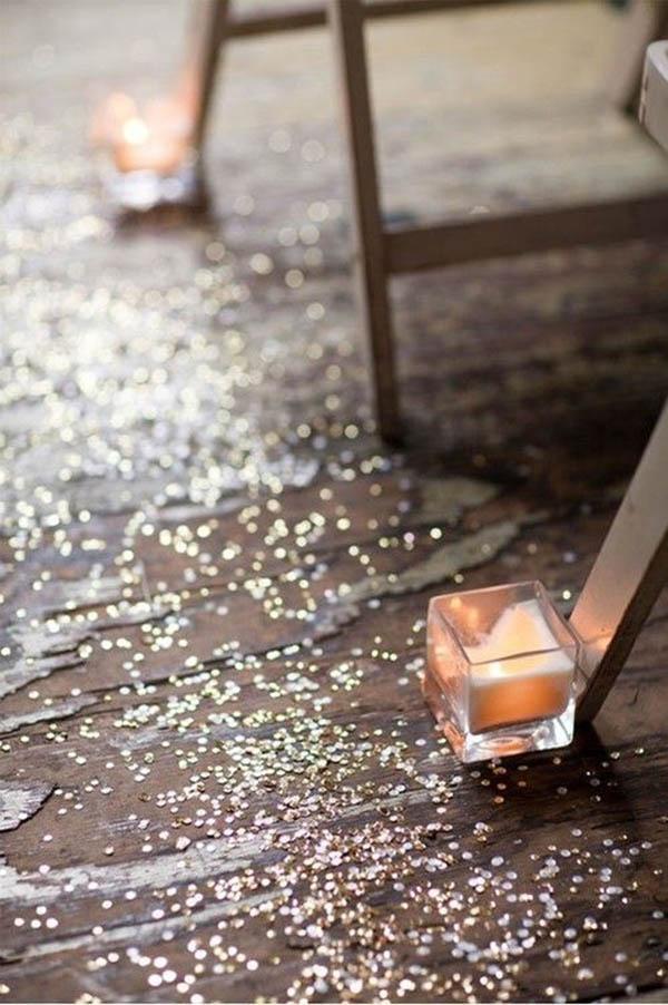 Gold Glitter Aisle