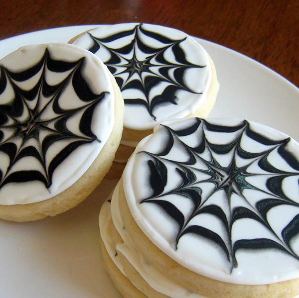 Halloween Spider web cookies