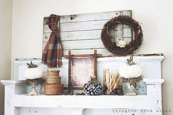 Love this Rustic Mantle