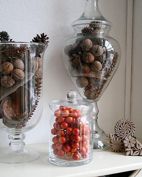 fall jar decorations b lovely events. Black Bedroom Furniture Sets. Home Design Ideas