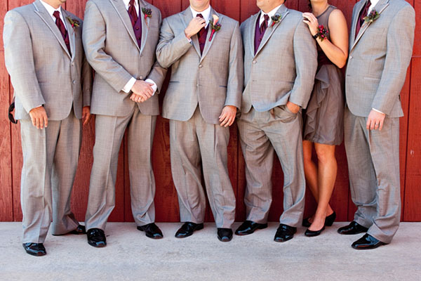 Groomsman party photo