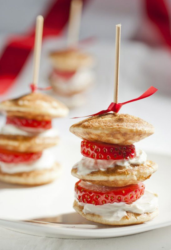 Mini pancake stacks, so cute!