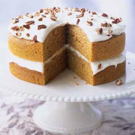 This pumpkin pie cake looks amazing