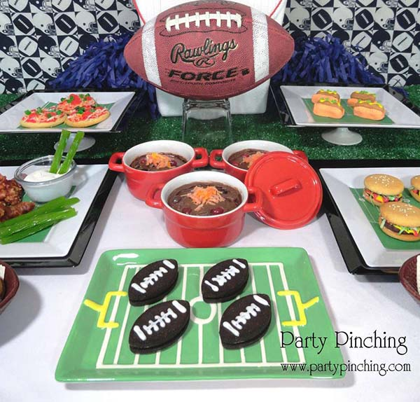 Cute Little Football party table