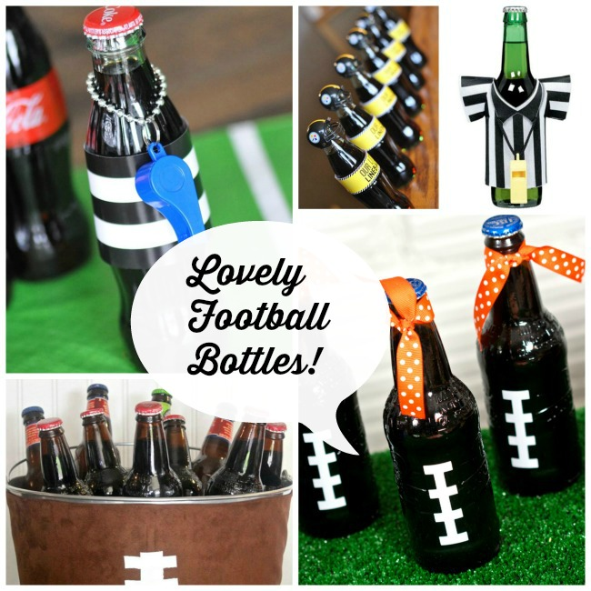 Lovely Football bottle ideas!
