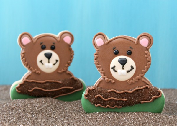 Darling groundhog cookies!