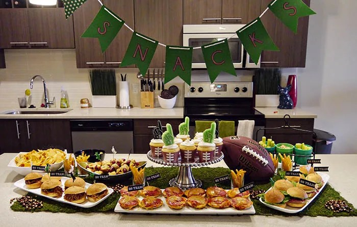 Love This Football Party Snack Table